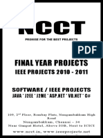 JAVA IEEE 2010 Project Titles on Mobile Computing
