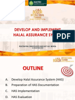 halal assurance develop and impleementing