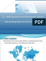 Safe Drinking Water For Rural And Urban Area