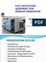 Static Excitation Equipment Ppt