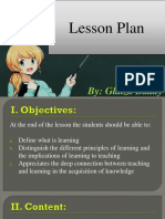 Lesson Plan in Principles of Learning
