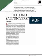 Io dono (all'università) - Buone Notizie del 9 aprile 2019