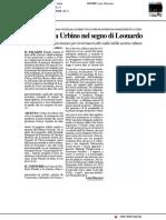 La Scienza a Urbino nel segno di Leonardo - Il Resto del Carlino del 9 aprile 2019