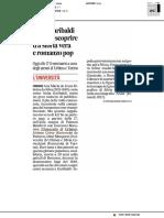 Anita Garibaldi tutta da scoprire - Il Corriere Adriatico del 9 aprile 2019