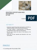 INDUCTIVELY COUPLED PLASMA MASS SPECTROMETER