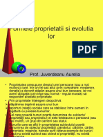 Formele Proprietatii Si Evolutia Lor