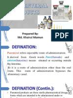 Parenteral Preparation 01