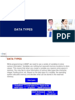 COURSE 2 - Data Types 2019