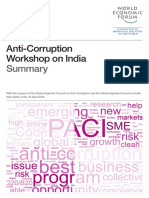 Anti-Corruption Workshop on India