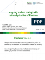 Presentation. Aligning Carbon Pricing With National Priorities- Saadullah Ayaz