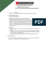 Bases Convocatoria CAS 01-2019