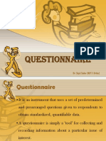Questionnaire in Research