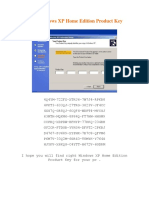 Free Windows XP Home Edition Product Key.docx