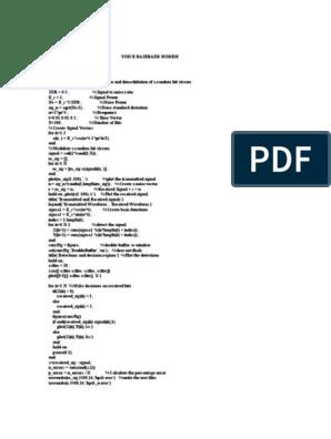 Bpsk Matlab Code
