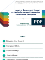 The Impact of Government Support on The Performance of Indonesia's State-Owned Enterprises