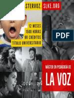 Máster en Pedagogía de la Voz