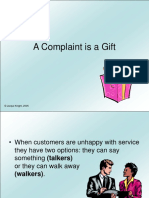A Complaint is a Gift to Organization