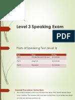 Speaking Test Procedure