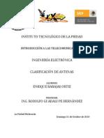 CLASIFICACIÓN DE ANTENAS