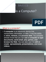 1-Computer Basics What is a Computer