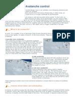 Ski Resorts Avalanche Control