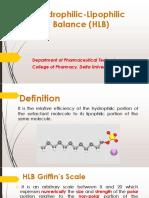 Physical Pharmacy_Hydrophilic-Lipophilic Balance