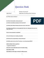 Dmdw Question Bank