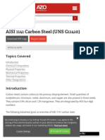 Aisi 1141 Carbon Steel (Uns g11410)