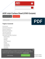 Aisi 1030 Carbon Steel (Uns g10300)