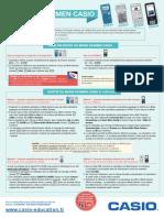 Poster Casio-tutoriel Mode Examen