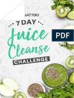 7 Day Juice Cleanse Work Book