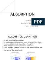 Adsorption by Bhanu