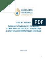 Raportul avocatului poporului