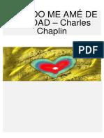 Cuando Me Amé de Verdad – Charles Chaplin