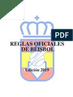 Reglas Oficiales Béisbol RFEBS 2019