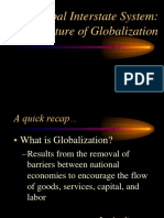 Global Interstate System. a Struture of Globalization (1)