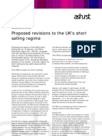 Briefing Proposed Revisions to the UK's Short Selling Regime - 10022009