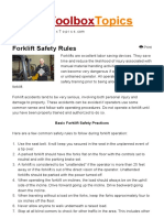 Forklift Safety Rules