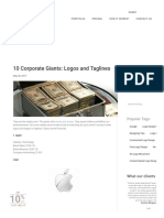 10 Corporate Giants Logos and Taglines