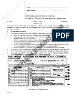 WAEC Marketing Past Questions and Answers PDF Free Download