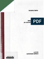 293895987 Berio Sequenza Bass Clarinet (Upright)