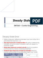 Lecture 7 - Steady State Error