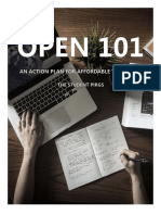 Open 101 - An Action Plan for Affordable Textbooks
