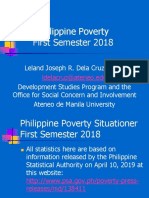 Philippine Poverty Situationer First Semester 2018