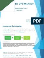 Investment Optimisation