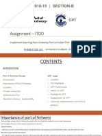 Project-Port Learning Implimentation Antwerp and CPT-Avinash (11B)