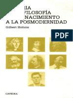 Gilbert Hottois - Historia de La Filosofia Del Renacimiento a La Posmodernidad