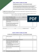 ISO Check list IA