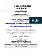 Handbook for Interns