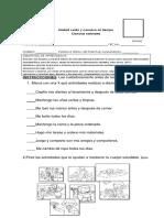 evaluación ciencias unidad °1